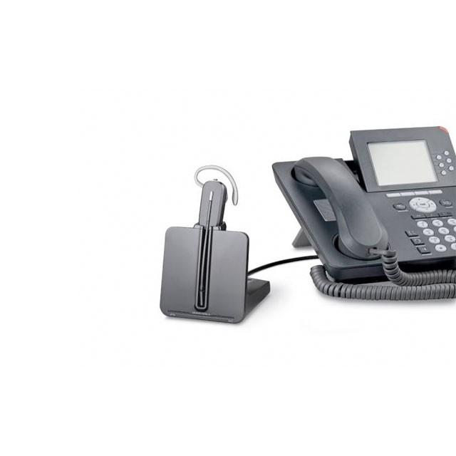 缤特力CS540耳机与话机相连的图示