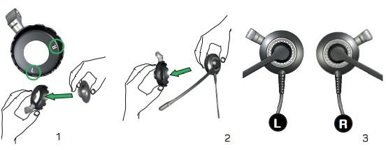 使用方法:   胶垫是一个圆形的橡胶零件,用于将耳机固定在您的耳朵上.